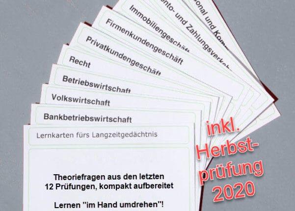 Bankfachwirt Lernkarten Stand Herbst 2020